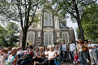 PERFORMANCE IN FRONT OF THE WESTERKERK CHURCH, AMSTERDAM, NETHERLANDS
