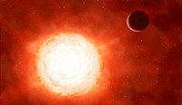 Betelgeuse Alpha Orionis is a red supergiant star some 640 light_years from the Solar System in the constellation of Orion. It is around 900 times the...