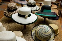 Ecuador. Cuenca city. Hat shop craftsmen