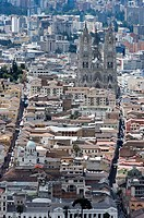 Ecuador. Quito. Historic center and modern city.