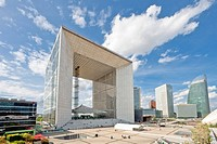 The Grande Arche in La Defense, Paris City, France, Europe