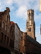 Het Belfort tower. Gothic bell tower built between the XIII and XIV