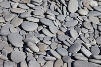 Stone at shore, full frame