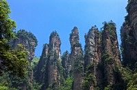 Mt Tianzi, Rock Formation like General Assembly, Zhangjiajie, Hunan Province, China, Asia