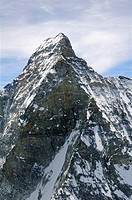 Matterhorn west face, from left to right west peak, Pic Tyndalland Zmutt Ridge, Valais, Schweiz
