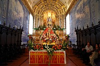 The image of Senhor Bom Jesus da Pedra inside the church of Sao Miguel Arcanjo, Vila Franca do Campo, Azores islands, Portugal