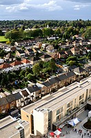 Hemel Hempstead town centre Image development and nearby district of Boxmoor, UK