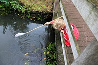 Little boy fishing, Netherlands