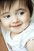 Baby girl smiling, portrait
