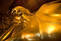 Wat Pho Temple, Reclining Buddha. Bangkok, Thailand