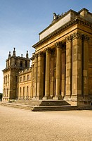 The South facade of Blenheim Palace in autumn sunshine