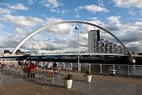 Clyde Arc bridge on the River Clyde in Glasgow, Scotland, UK