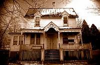 Silvia´s Old Haunted House in sepia tone