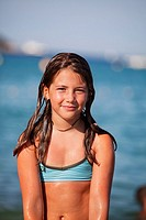 10 years old girl at the beach