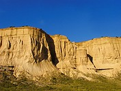 Natural landscape in the biosphere reserve Bardenas, Navarra, Spain