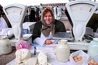 selling dairy products to the market in Tiraspol, Transnistria