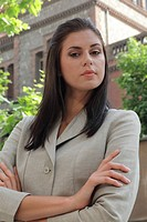 Portrait of a beautiful businesswoman contemplating