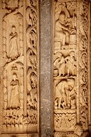 Romaesque doorway sculptures by the Croatian architect Master Radovan  Saint Lawrence Cathedral - Trogir - Croatia