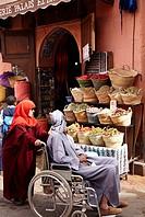 Herboristeria, Medina de Marrakech, High Atlas, Morocco.