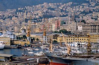 Italy, Liguria, Genoa, the harbour                                                                                                                    ...