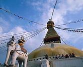 Nepal, Katmandu. Boudhanath Stupa