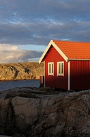 House on coast, Bohuslän, Sweden, Scandinavia, Europe