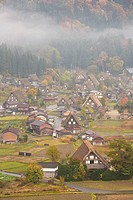 Shirakawago in autumn, Shirakawa Village, Gifu Prefecture, Honshu, Japan