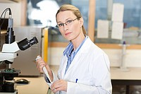 Female doctor in laboratory