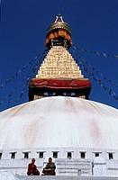 Nepal, Katmandu. Bodnath Stupa