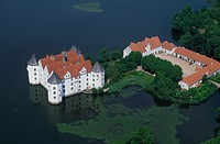 Germany, Glucksburg Castle, aerial view                                                                                                               ...