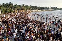 Agni Tirtha bathing ghat, Bay of Bengal, Rameswaram, one of the most venerated and sacred temple towns of India, Tamil Nadu, India