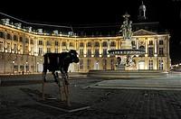 France, Gironde, Bordeaux, World Heritage Site, Place de la Bourse