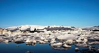 Jokulsarlon Glacial Lagoon, Breidamerkurjokull glacier, Vatnajokull  Iceland