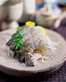 raw fish, shrimp food