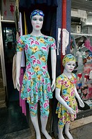 SYRIA   The great Bazaar and old town of Damascus  Mannequins in women's clothes shop