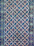 TURKEY. Mosque of Rustem Pasha, Istanbul. Detail of Iznik tile