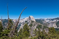 Half Dome Mountain seen from Glacier Point, Yosemite National Park, California, USA