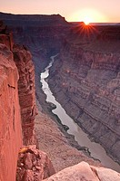 Grand Canyon and Colorado River seen from Toroweap Point at sunrise, Tuweep Area, Grand Canyon North Rim, Arizona, USA