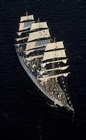 Tall ship, aerial view