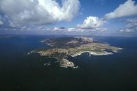 Sicily, Favignana Island, aerial view