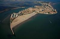 Italy, Friuli, Grado, aerial view
