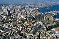 Italy, Campania, Naples aerial view of the city