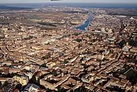 Italy, Emilia Romagna, Ravenna, aerial view