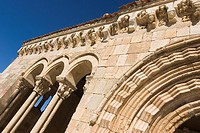 Portico of the romanesque Church of Sotosalbos, Segovia, Castilla y Leon, Spain