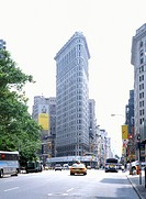 New York Flatiron Buliding at 5th Ave, USA
