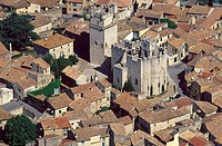 France, Languedoc_Roussillion, Saint_Laurent_des Arbres aerial view