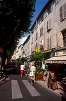 France, French Riviera, Provence, Antibes, downtown stree