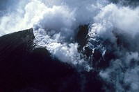 Italy, Sicily, aerial view of Etna volcano