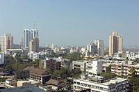 Modern skyscrapers , Prabhadevi , Bombay Mumbai , Maharashtra , India