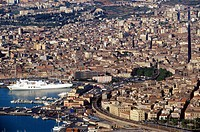 Italy, Sicily, Catania aerial view